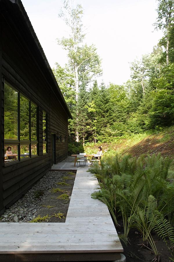Enracinée dans son environnement montagneux et boisé de par sa forme et ses matériaux ma maison est en harmonie avec la nature appareil architecture a su